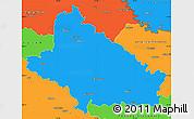 Political Simple Map of Bjelovar-Bilogora