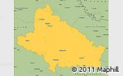 Savanna Style Simple Map of Bjelovar-Bilogora