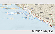 Classic Style 3D Map of Dubrovnik-Neretva