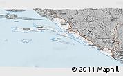 Gray 3D Map of Dubrovnik-Neretva