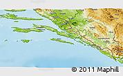 Physical 3D Map of Dubrovnik-Neretva