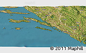 Satellite 3D Map of Dubrovnik-Neretva
