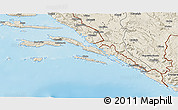 Shaded Relief 3D Map of Dubrovnik-Neretva