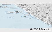 Silver Style 3D Map of Dubrovnik-Neretva