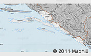 Gray Map of Dubrovnik-Neretva