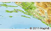 Physical Map of Dubrovnik-Neretva