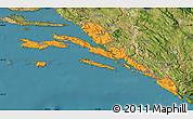 Political Map of Dubrovnik-Neretva, satellite outside