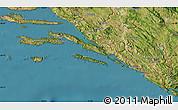Satellite Map of Dubrovnik-Neretva