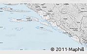 Silver Style Map of Dubrovnik-Neretva