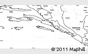 Blank Simple Map of Dubrovnik-Neretva