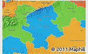 Political 3D Map of Grad Zagreb