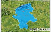 Political 3D Map of Grad Zagreb, satellite outside
