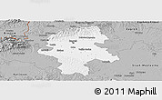 Gray Panoramic Map of Grad Zagreb