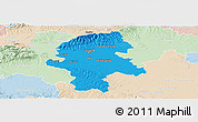 Political Panoramic Map of Grad Zagreb, lighten