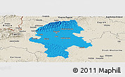 Political Panoramic Map of Grad Zagreb, shaded relief outside