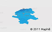 Political Panoramic Map of Grad Zagreb, single color outside
