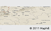 Shaded Relief Panoramic Map of Grad Zagreb