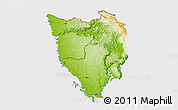 Physical 3D Map of Istra, cropped outside