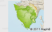 Physical 3D Map of Istra, shaded relief outside