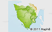 Physical 3D Map of Istra, single color outside
