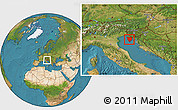 Satellite Location Map of Istra
