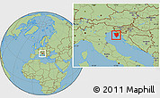 Savanna Style Location Map of Istra