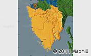 Political Map of Istra, darken
