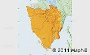 Political Map of Istra, lighten
