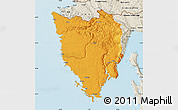 Political Map of Istra, shaded relief outside