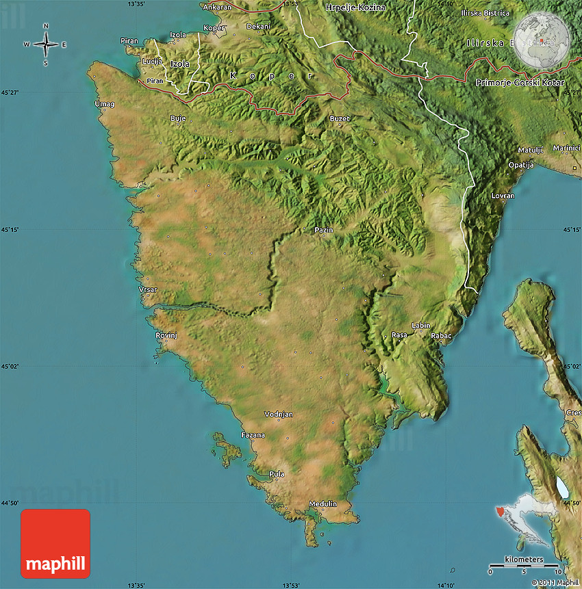 Satellite map of istra gumiabroncs Images