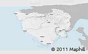 Gray Panoramic Map of Istra, single color outside