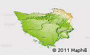 Physical Panoramic Map of Istra, cropped outside