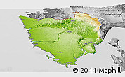 Physical Panoramic Map of Istra, desaturated