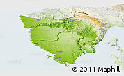 Physical Panoramic Map of Istra, lighten