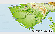 Physical Panoramic Map of Istra