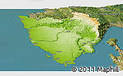 Physical Panoramic Map of Istra, satellite outside