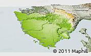 Physical Panoramic Map of Istra, semi-desaturated