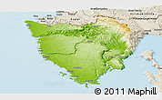 Physical Panoramic Map of Istra, shaded relief outside