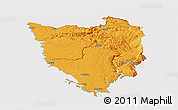 Political Panoramic Map of Istra, cropped outside