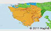 Political Panoramic Map of Istra