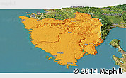Political Panoramic Map of Istra, satellite outside