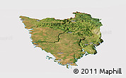 Satellite Panoramic Map of Istra, cropped outside
