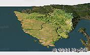 Satellite Panoramic Map of Istra, darken