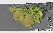 Satellite Panoramic Map of Istra, desaturated