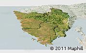 Satellite Panoramic Map of Istra, lighten