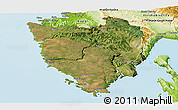 Satellite Panoramic Map of Istra, physical outside