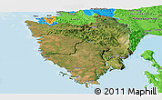 Satellite Panoramic Map of Istra, political outside