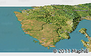 Satellite Panoramic Map of Istra