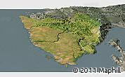 Satellite Panoramic Map of Istra, semi-desaturated