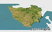 Satellite Panoramic Map of Istra, single color outside